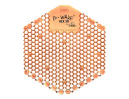 P-Wave® Hex 3D Urinal Deodoriser (Mango) | Ten Pack | Image 1